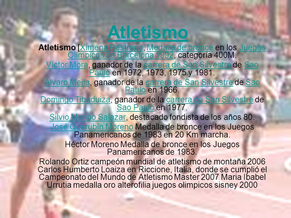 Atletismo Atletismo [Ximena Restrepo, Medalla de bronce en los Juegos Olímpicos de Barcelona 1992, categoría 400M.